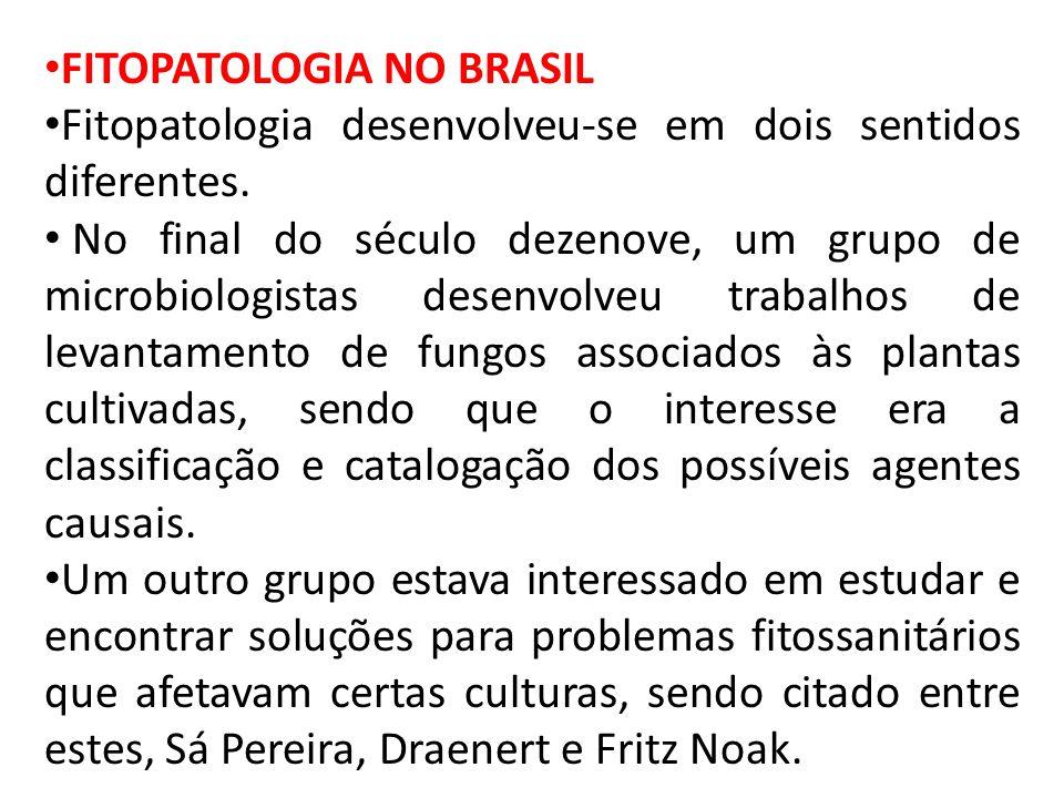 FITOPATOLOGIA NO BRASIL