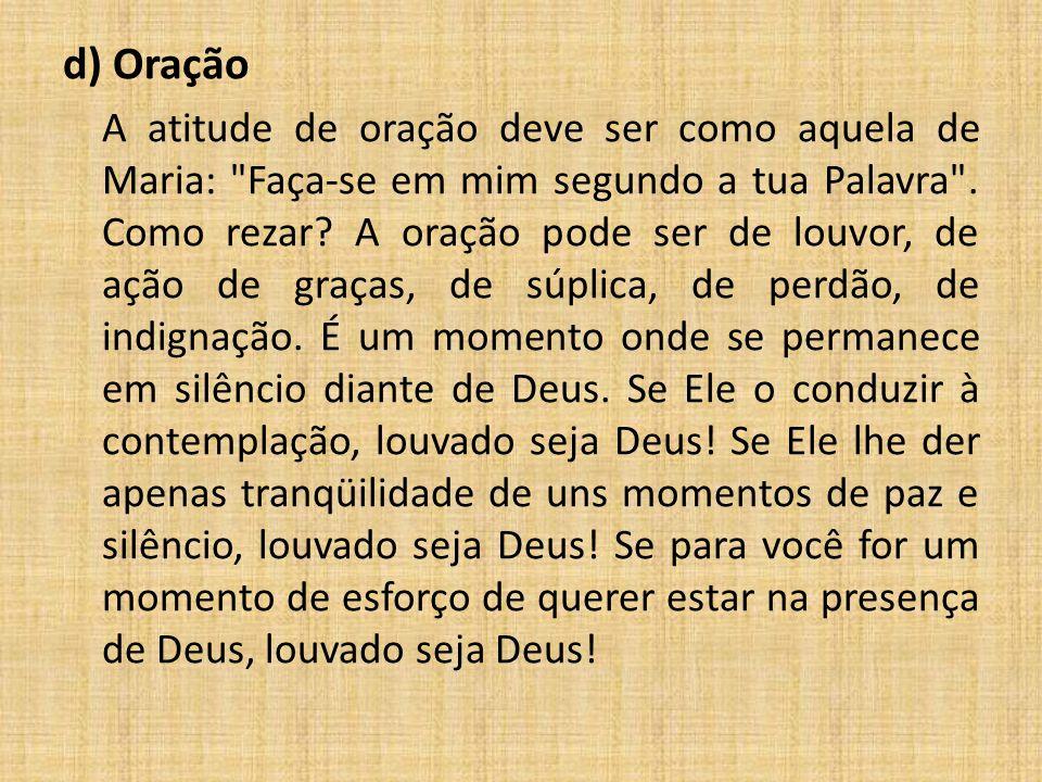 d) Oração