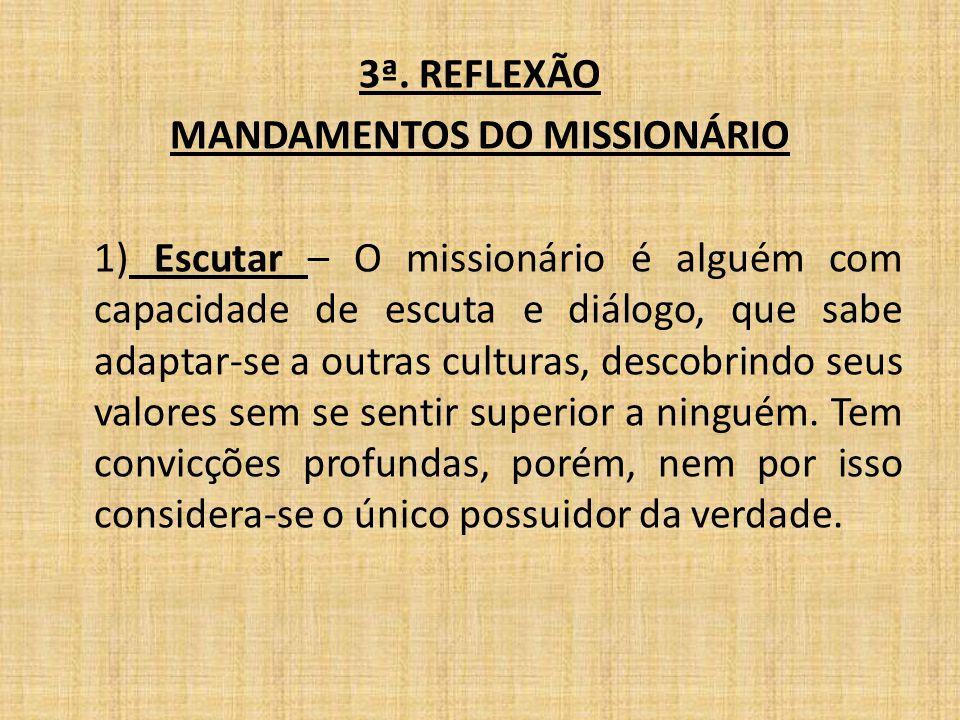 MANDAMENTOS DO MISSIONÁRIO