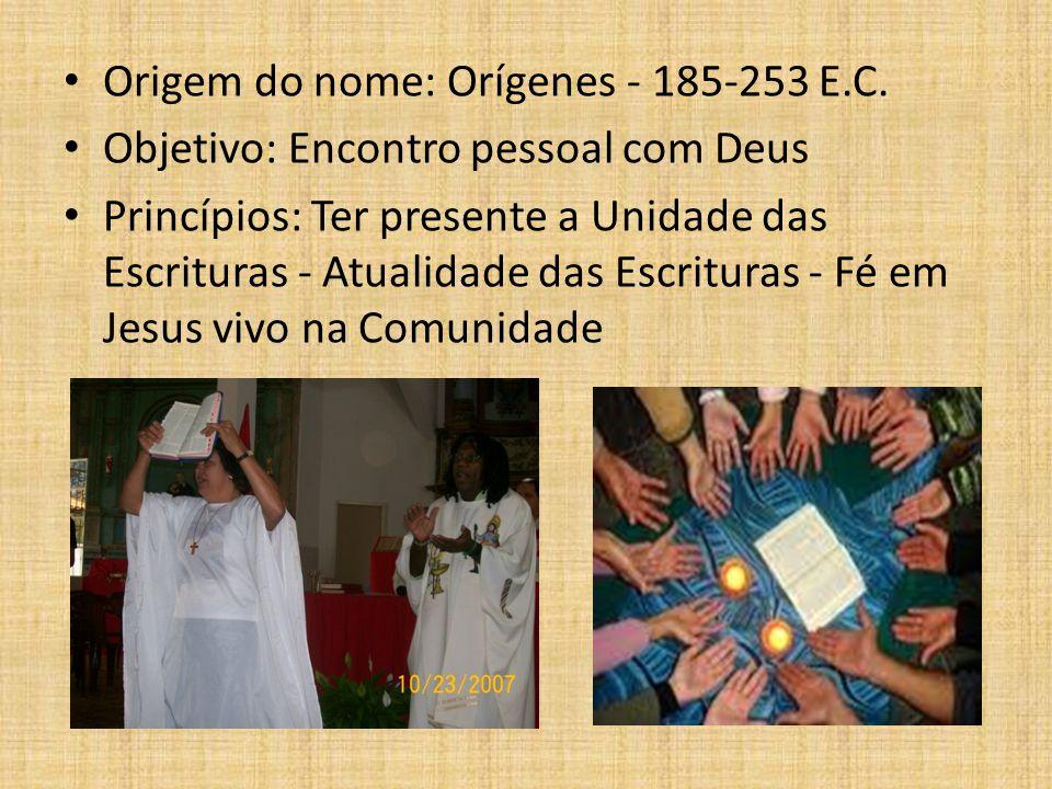 Origem do nome: Orígenes - 185-253 E.C.