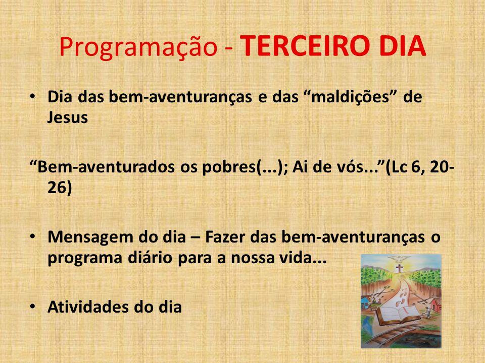 Programação - TERCEIRO DIA