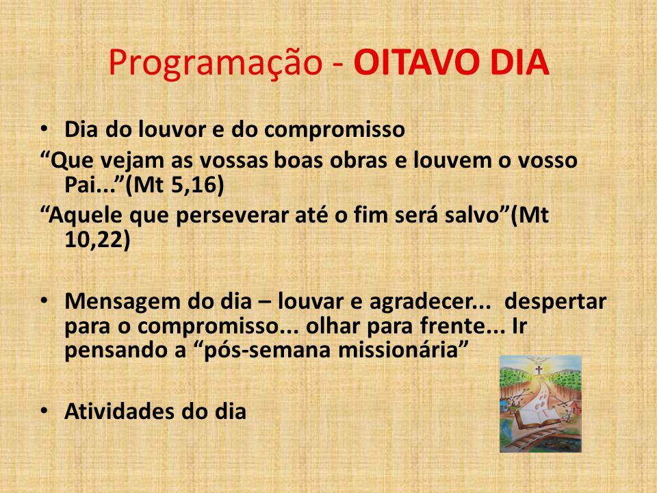 Programação - OITAVO DIA