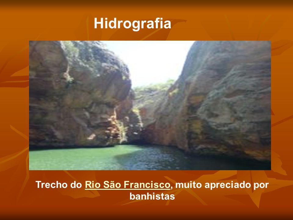 Trecho do Rio São Francisco, muito apreciado por banhistas