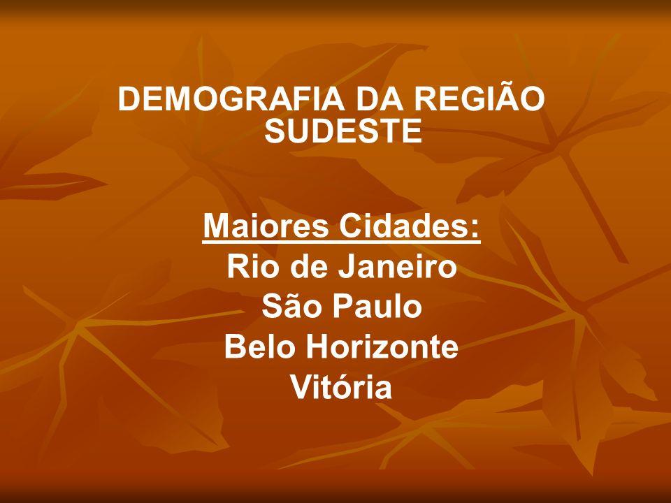 DEMOGRAFIA DA REGIÃO SUDESTE
