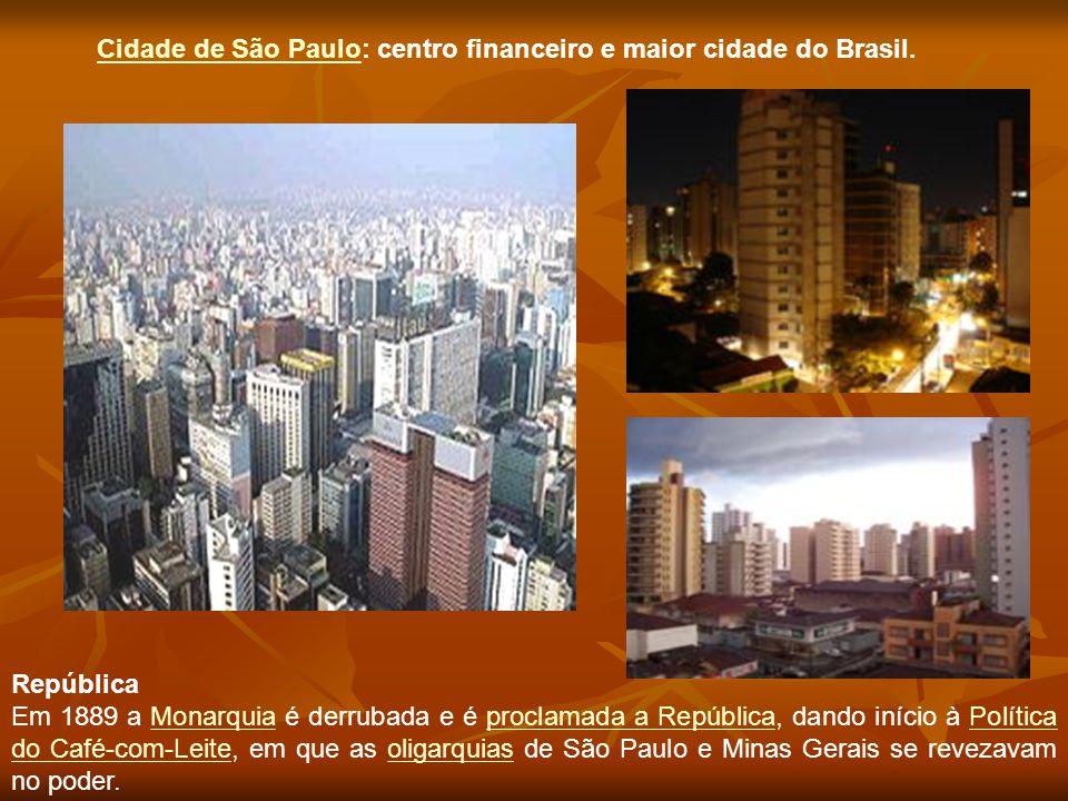 Cidade de São Paulo: centro financeiro e maior cidade do Brasil.