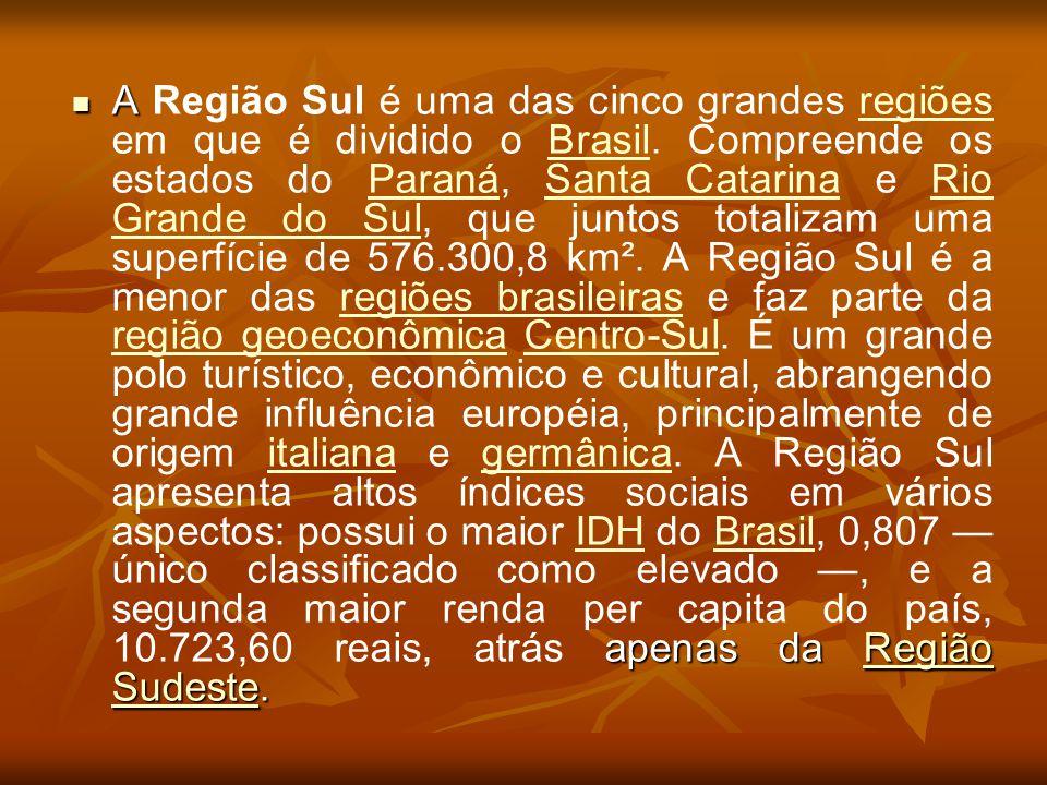 A Região Sul é uma das cinco grandes regiões em que é dividido o Brasil.