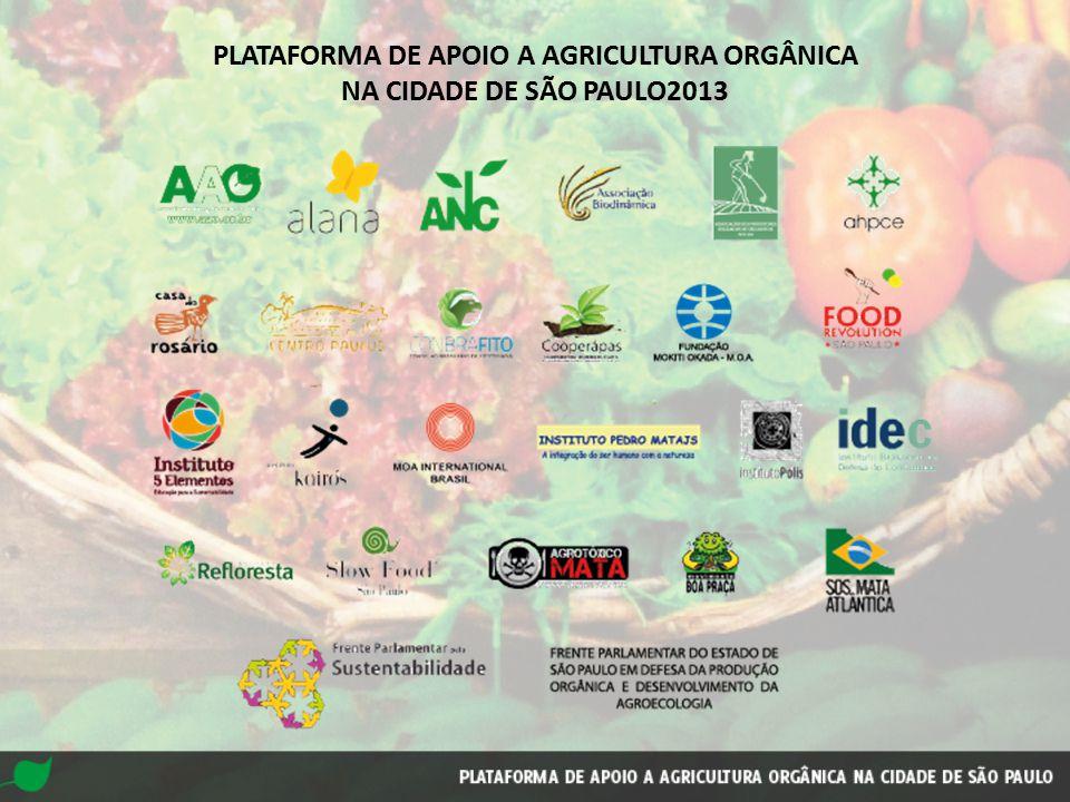 PLATAFORMA DE APOIO A AGRICULTURA ORGÂNICA