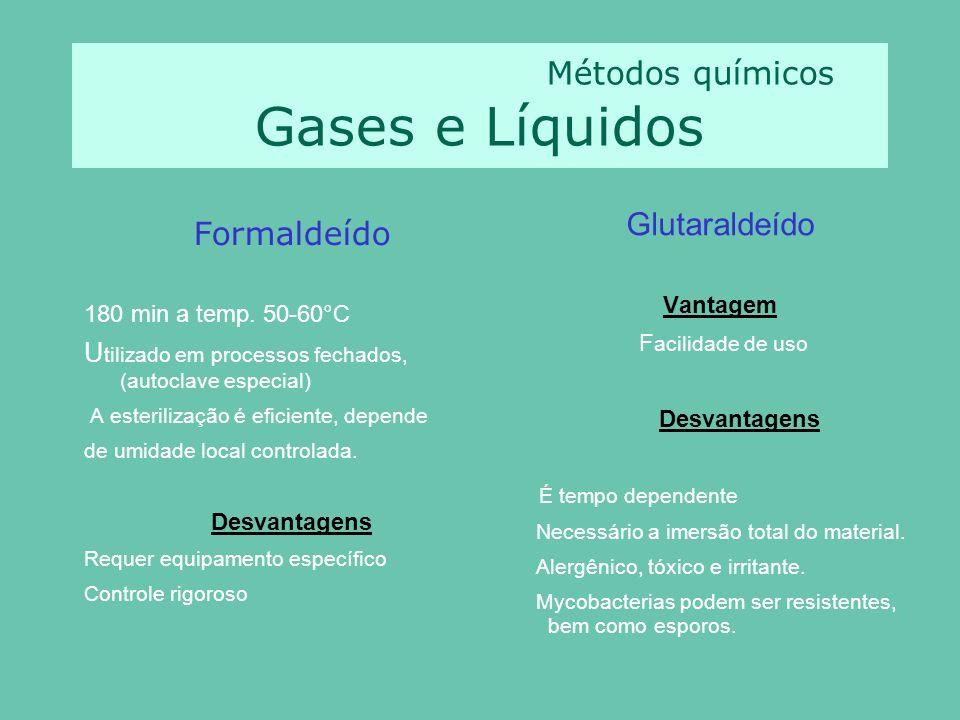 Métodos químicos Gases e Líquidos
