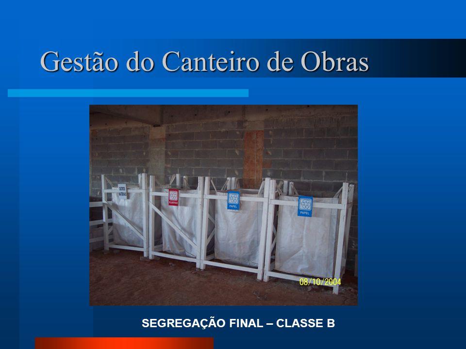 SEGREGAÇÃO FINAL – CLASSE B