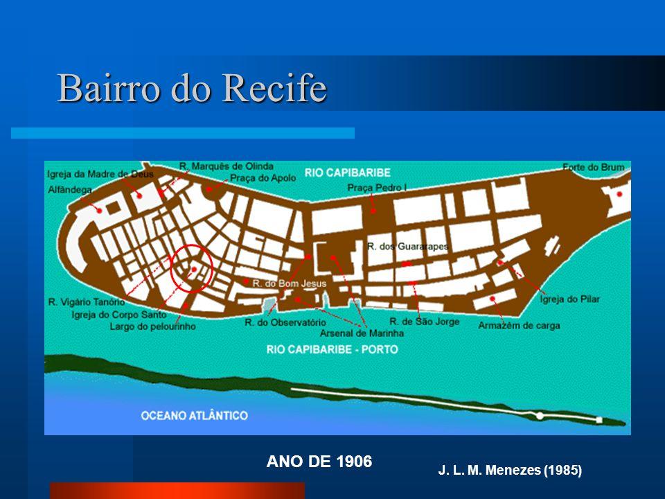 Bairro do Recife ANO DE 1906 J. L. M. Menezes (1985)