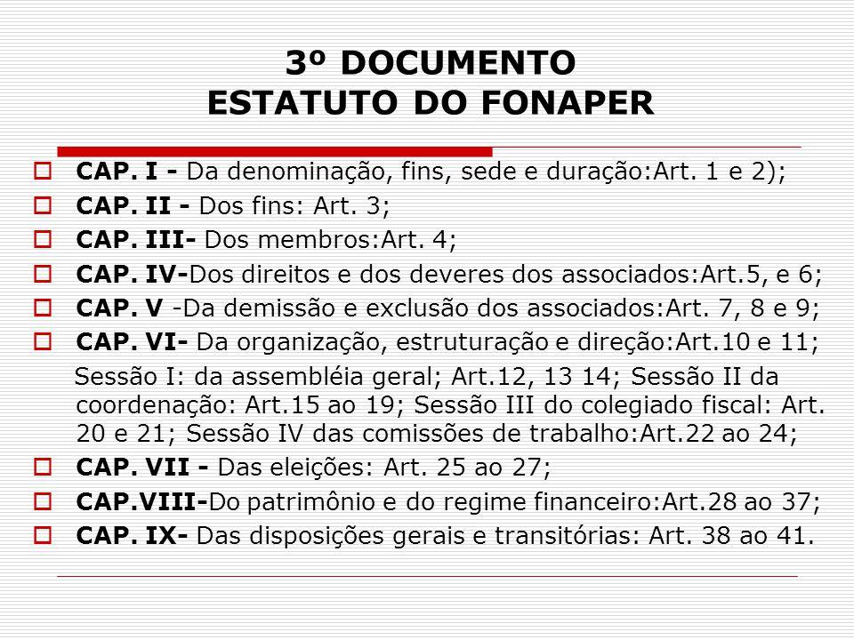3º DOCUMENTO ESTATUTO DO FONAPER