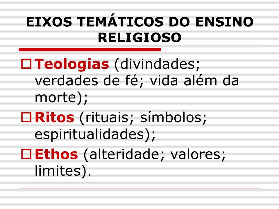 EIXOS TEMÁTICOS DO ENSINO RELIGIOSO