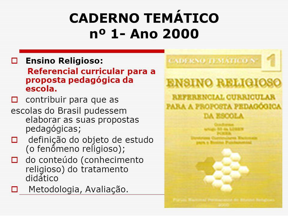 CADERNO TEMÁTICO nº 1- Ano 2000