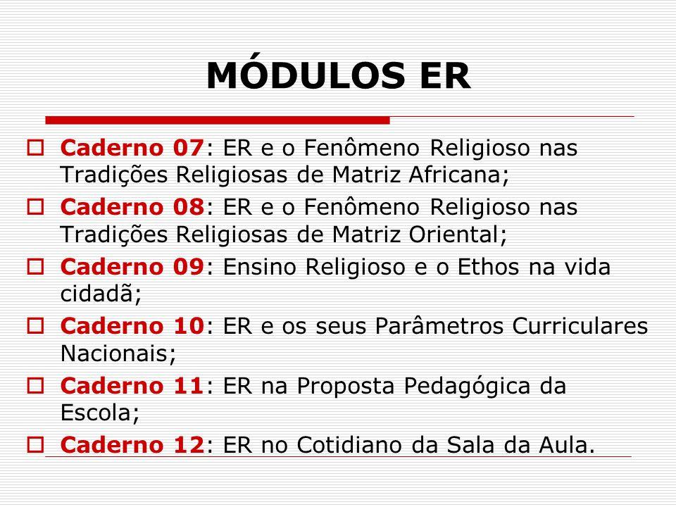 MÓDULOS ER Caderno 07: ER e o Fenômeno Religioso nas Tradições Religiosas de Matriz Africana;