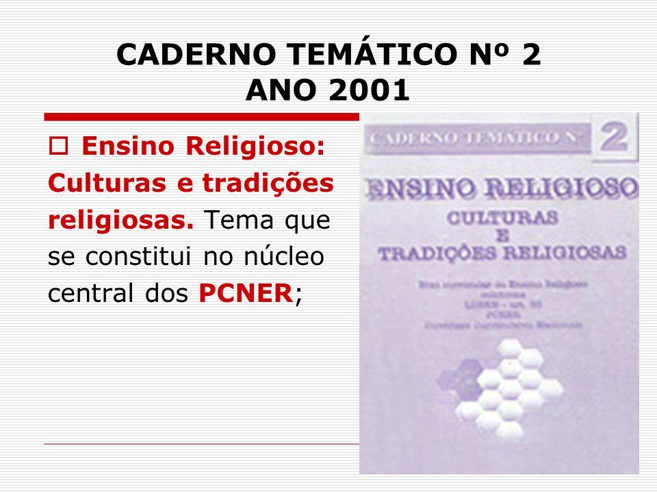 CADERNO TEMÁTICO Nº 2 ANO 2001