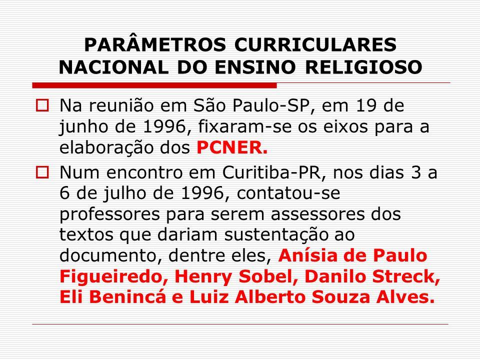 PARÂMETROS CURRICULARES NACIONAL DO ENSINO RELIGIOSO