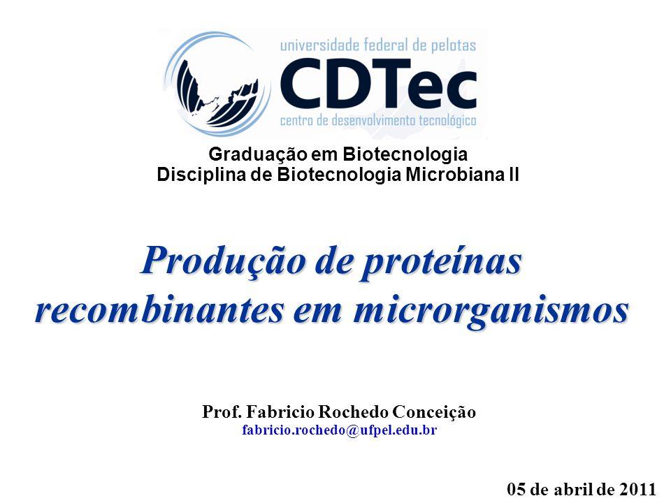 Produção de proteínas recombinantes em microrganismos
