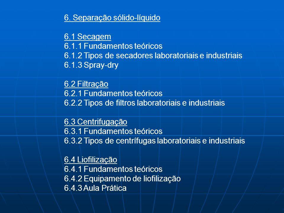 6. Separação sólido-líquido