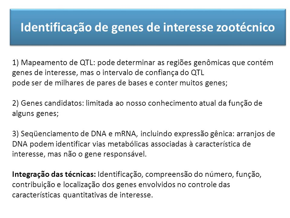 Identificação de genes de interesse zootécnico