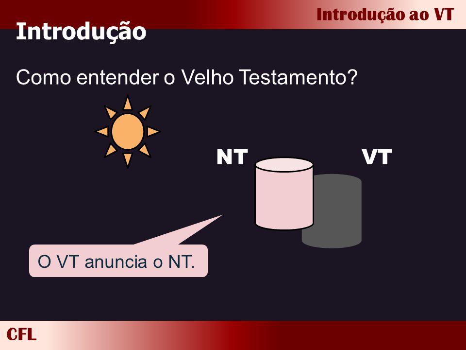 Introdução Como entender o Velho Testamento NT VT O VT anuncia o NT.