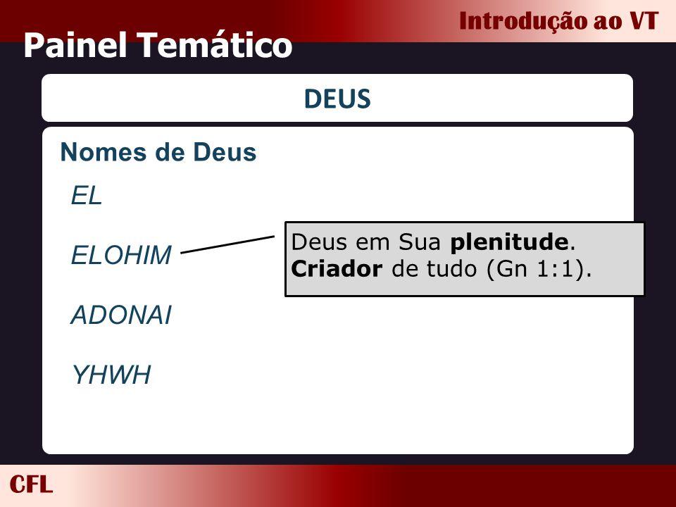 Painel Temático DEUS Nomes de Deus EL ELOHIM ADONAI YHWH