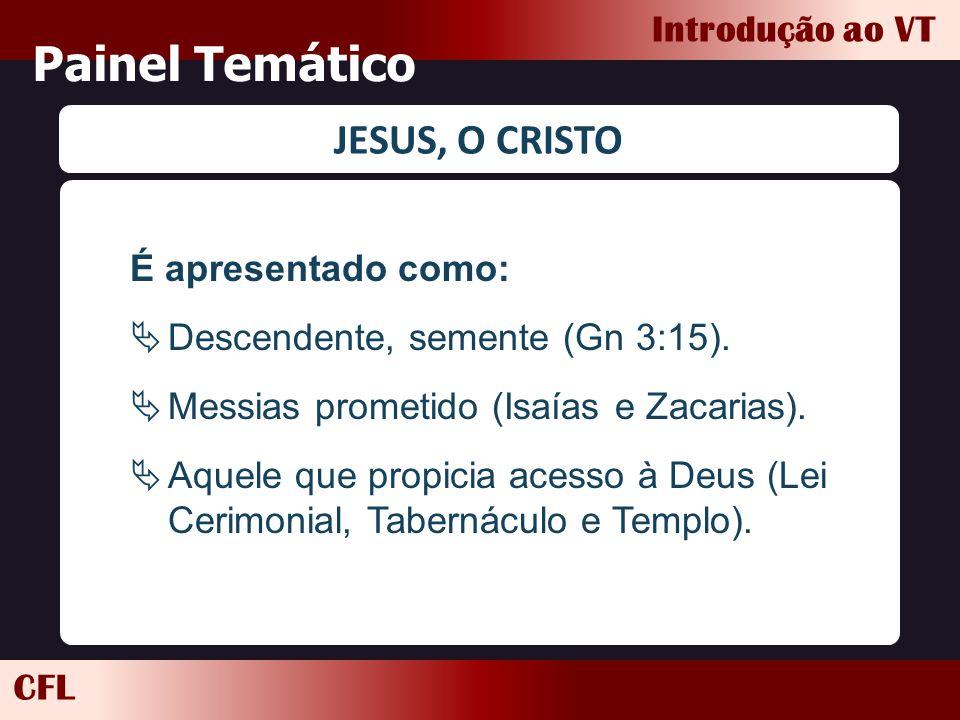 Painel Temático JESUS, O CRISTO É apresentado como:
