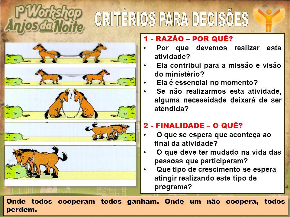 CRITÉRIOS PARA DECISÕES