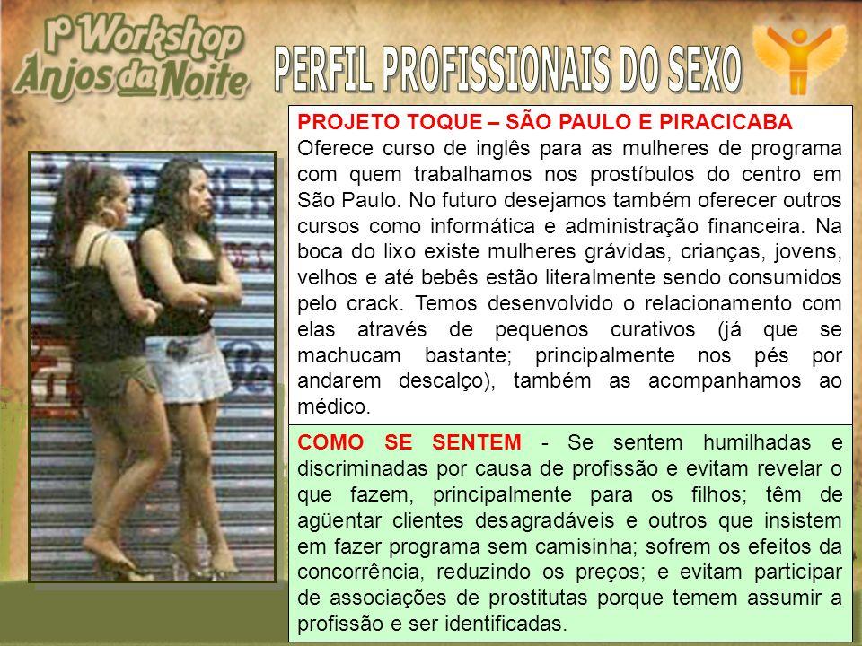 PERFIL PROFISSIONAIS DO SEXO