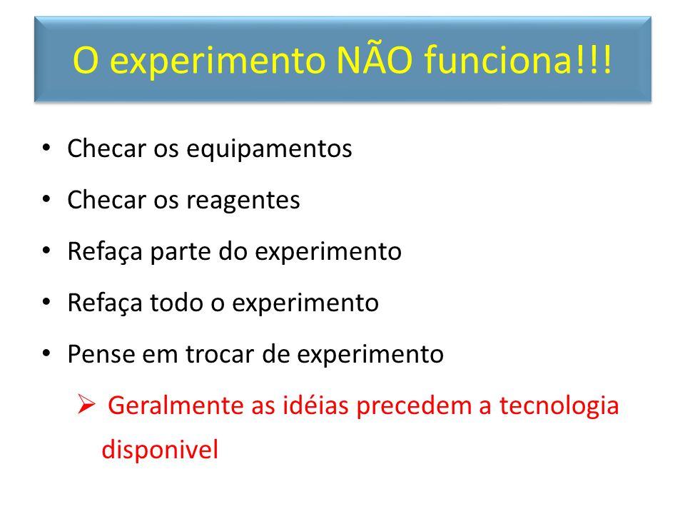 O experimento NÃO funciona!!!