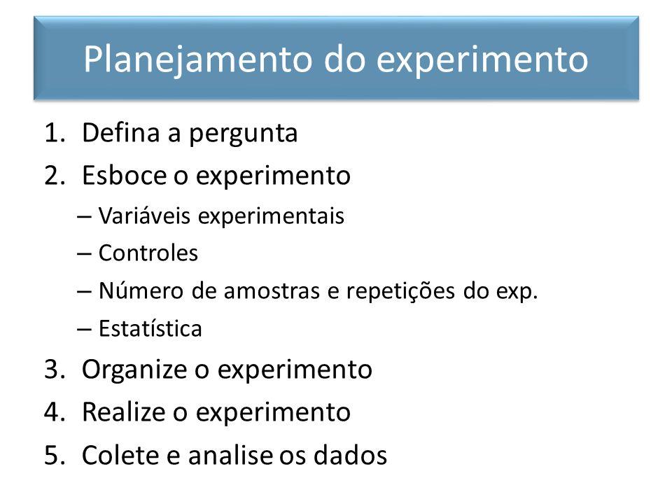 Planejamento do experimento
