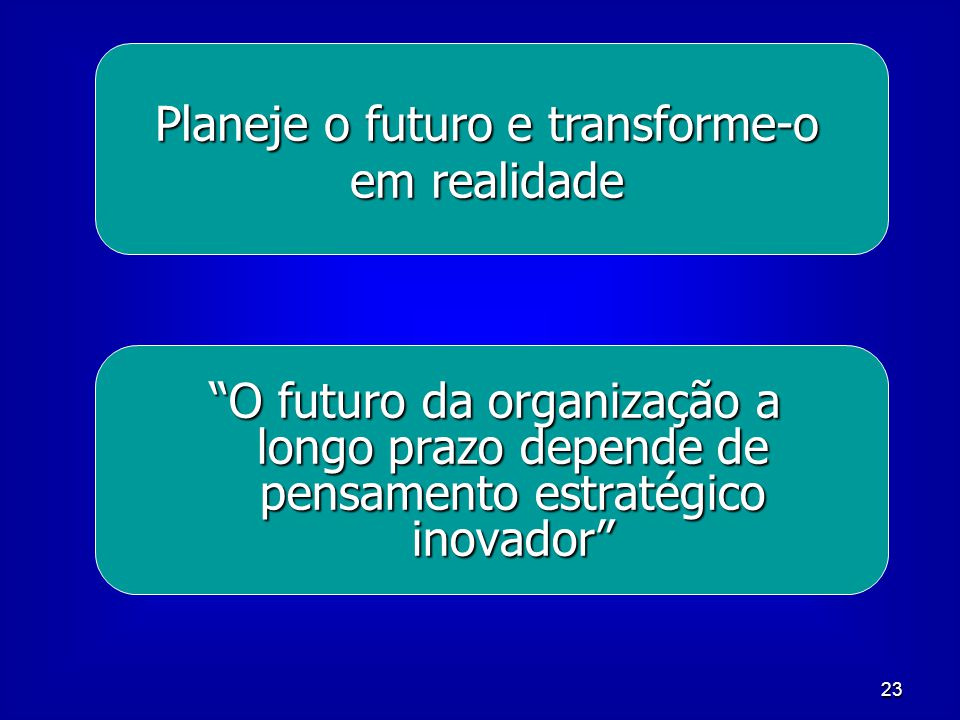 Planeje o futuro e transforme-o em realidade