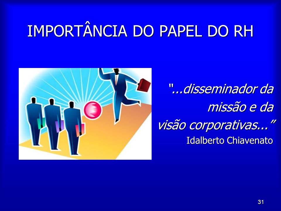 IMPORTÂNCIA DO PAPEL DO RH