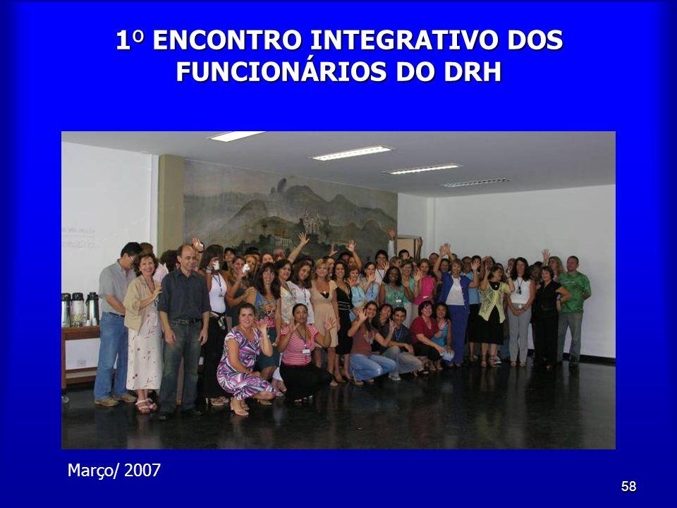 1º ENCONTRO INTEGRATIVO DOS FUNCIONÁRIOS DO DRH