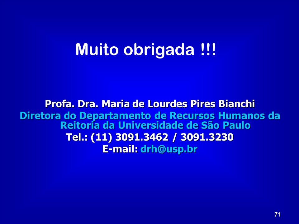 Profa. Dra. Maria de Lourdes Pires Bianchi
