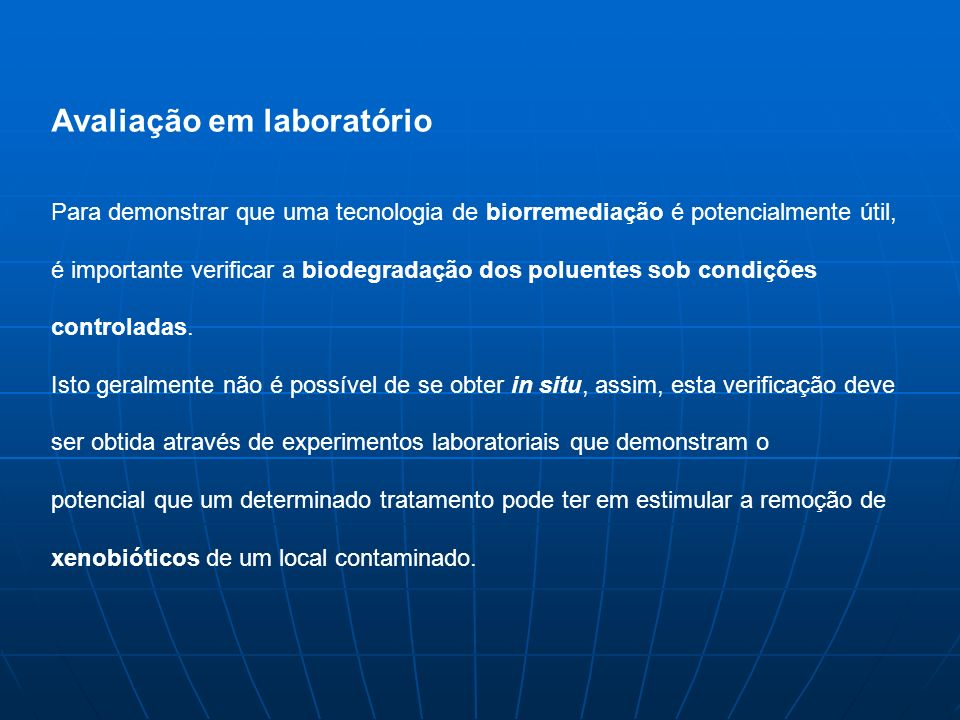 Avaliação em laboratório