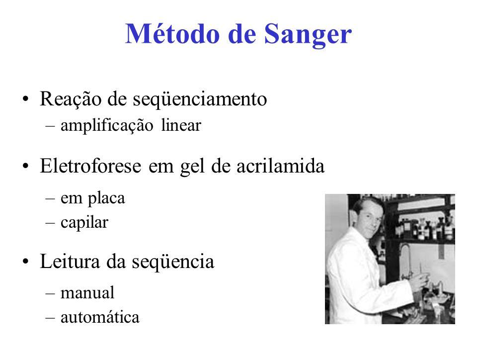 Método de Sanger Reação de seqüenciamento