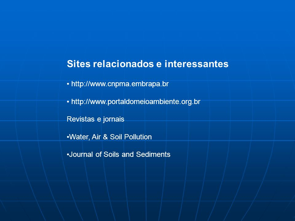 Sites relacionados e interessantes