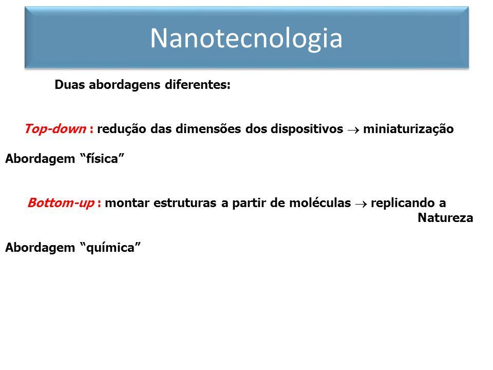 Nanotecnologia Duas abordagens diferentes: