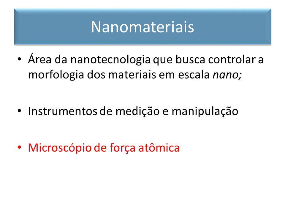 NanomateriaisÁrea da nanotecnologia que busca controlar a morfologia dos materiais em escala nano; Instrumentos de medição e manipulação.