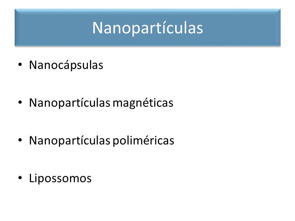 Nanopartículas Nanocápsulas Nanopartículas magnéticas