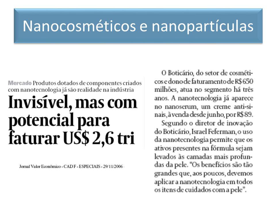 Nanocosméticos e nanopartículas
