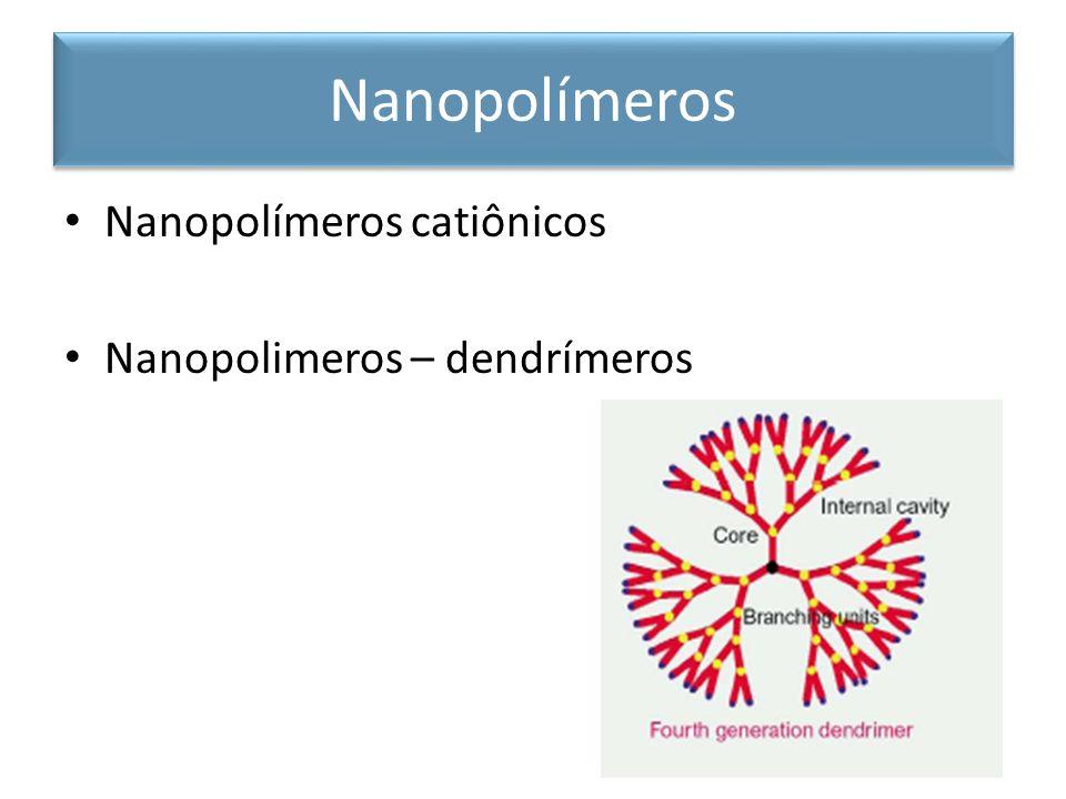 Nanopolímeros Nanopolímeros catiônicos Nanopolimeros – dendrímeros