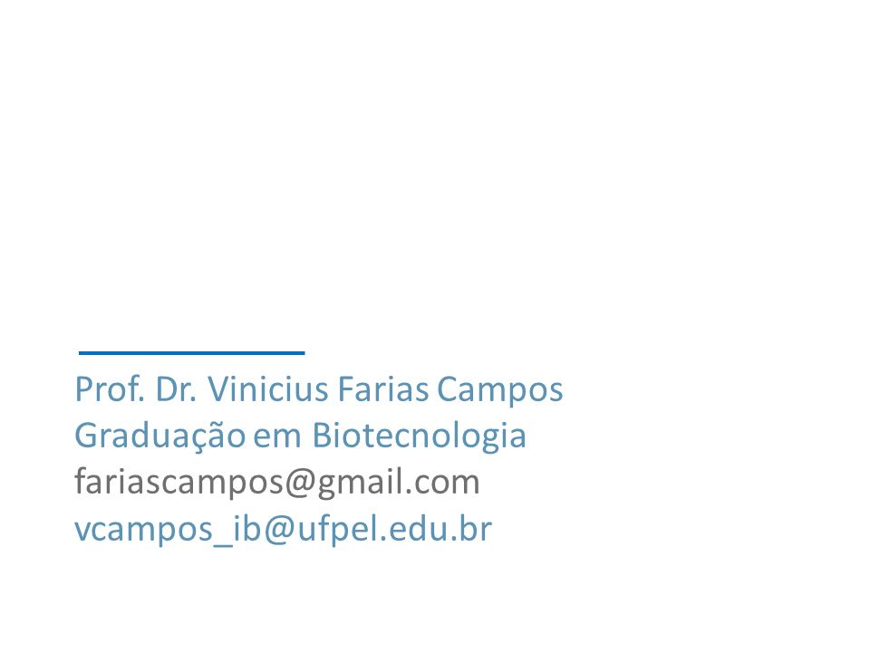 Prof. Dr. Vinicius Farias Campos