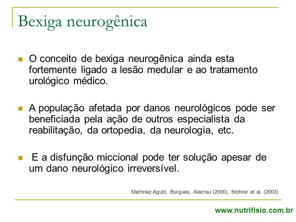 Bexiga neurogênica O conceito de bexiga neurogênica ainda esta fortemente ligado a lesão medular e ao tratamento urológico médico.