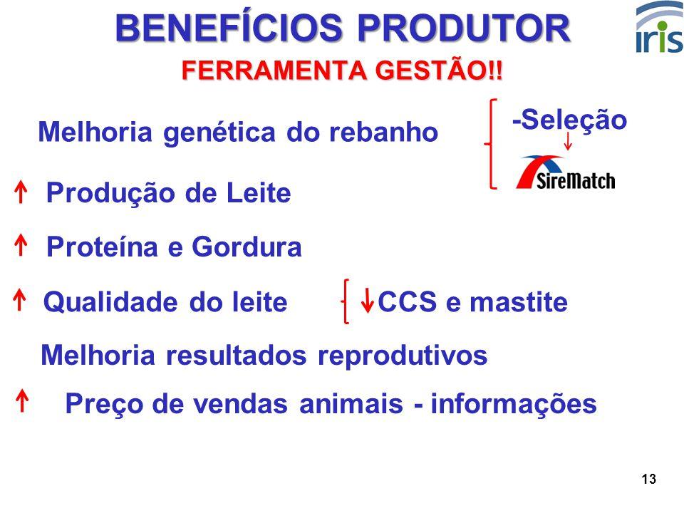 Melhoria genética do rebanho Preço de vendas animais - informações