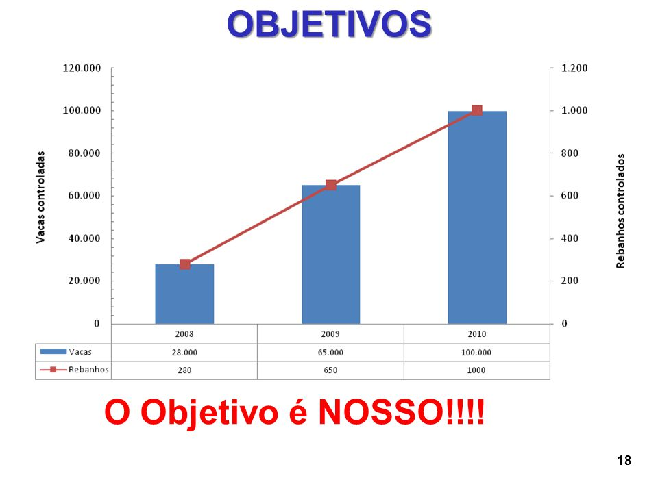 OBJETIVOS O Objetivo é NOSSO!!!!