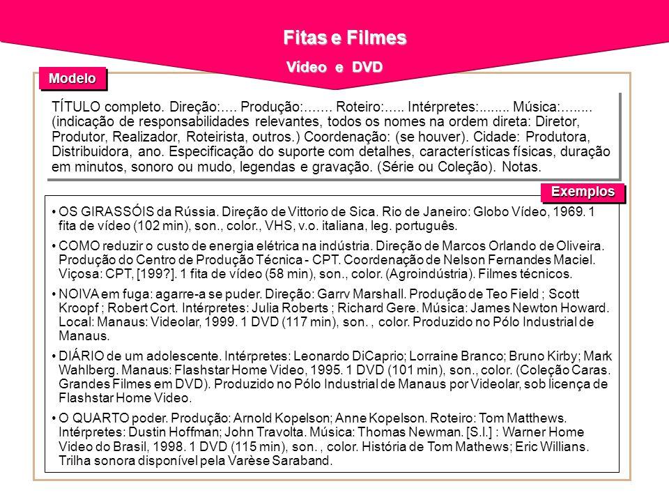 Fitas e Filmes Vídeo e DVD