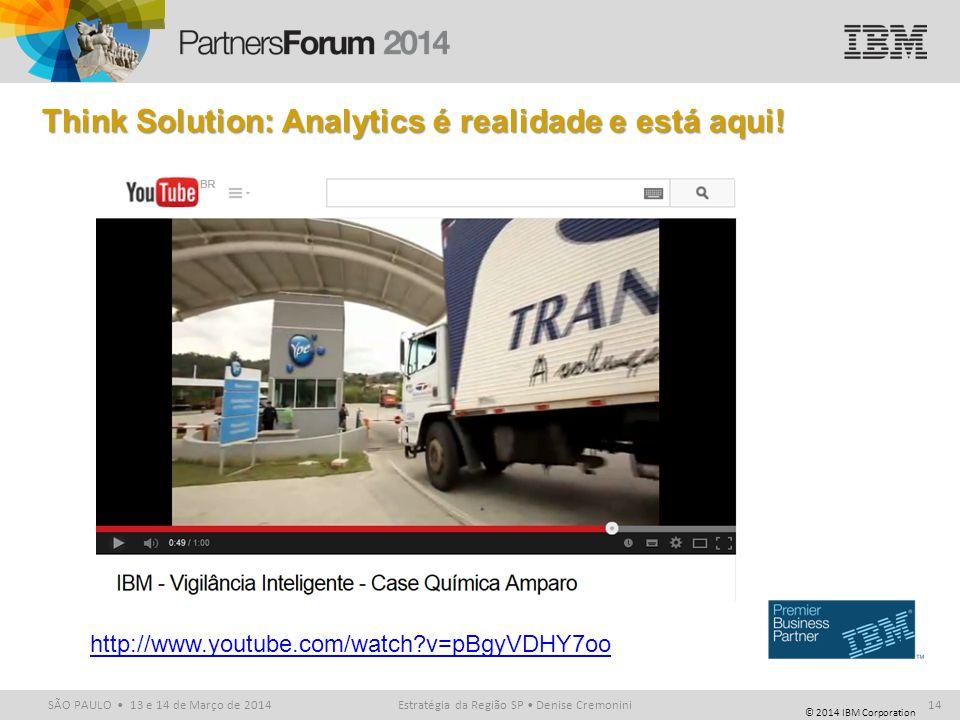 Think Solution: Analytics é realidade e está aqui!