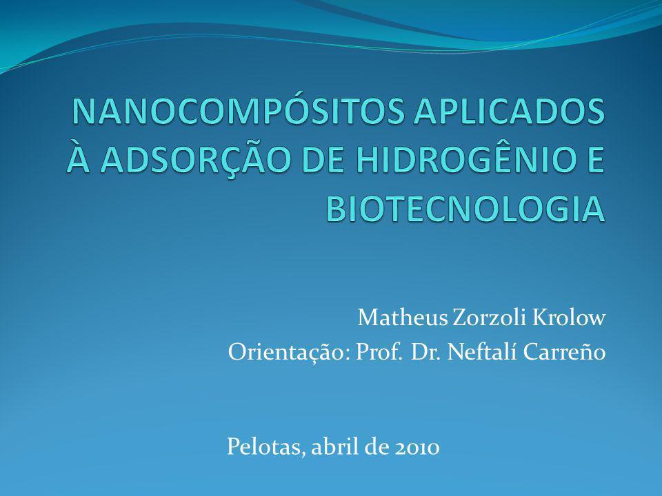 NANOCOMPÓSITOS APLICADOS À ADSORÇÃO DE HIDROGÊNIO E BIOTECNOLOGIA