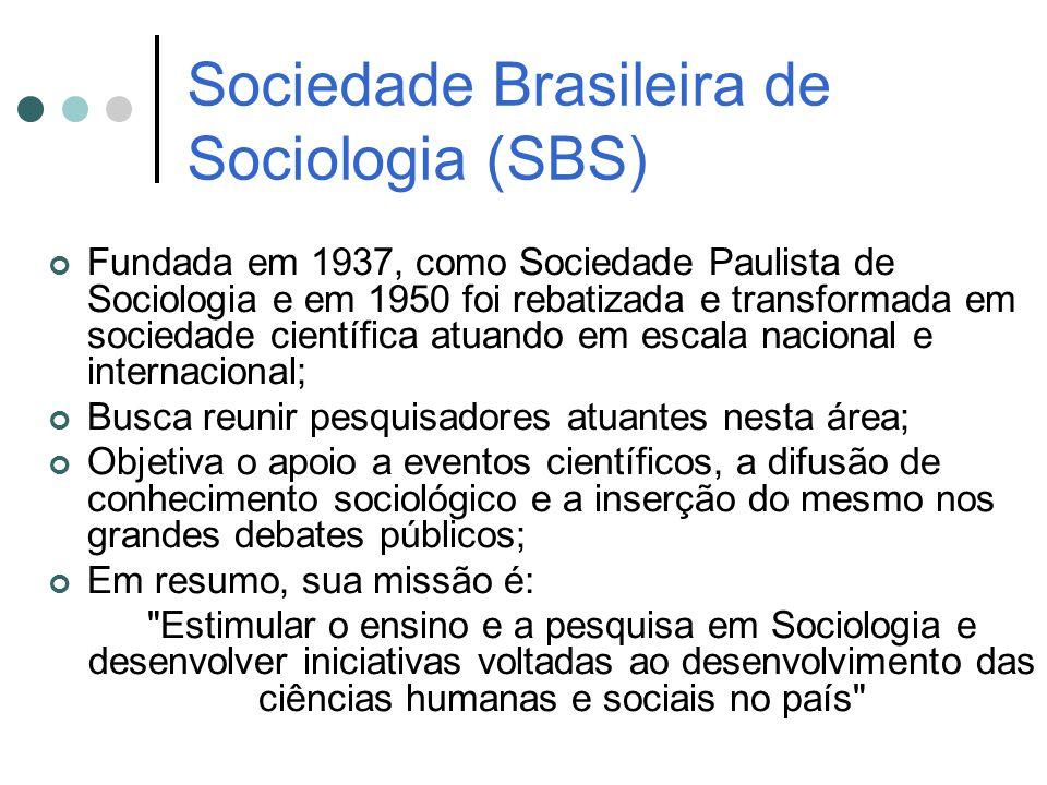 Sociedade Brasileira de Sociologia (SBS)